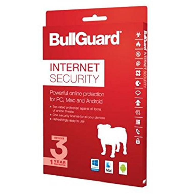 Bullguard BG1502/3 INTERNET SECURITY 1Year/ 3devices 100 MB - OEM ATTACH CARD Windows 10 Mac and Andriod, install via download