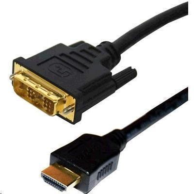 DYNAMIX 2M HDMI Male to DVI-D Male (18+1) Cable. Single Link Premium Quality