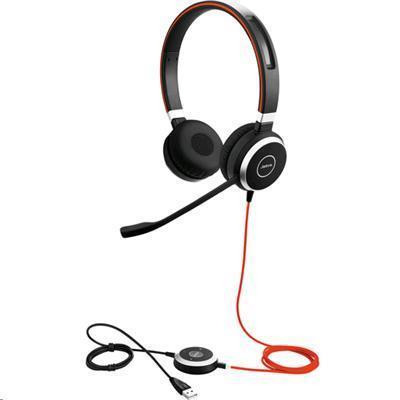 Jabra EVOLVE EVOLVE 40 MS Headset - Skype for Business - Stereo - USB, Mini-phone - Wired - Over-the-head - Binaural - Supra-aural - Noise Cancelling Microphone - SFB