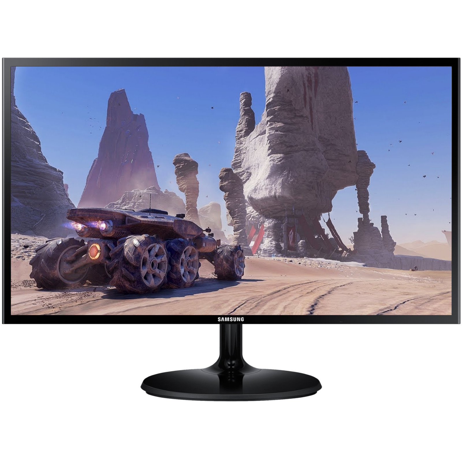 "Samsung S24F350F 24"" LED Monitor, 1920x1080, 4ms, 75x75mm VESA, HDMI+VGA,"