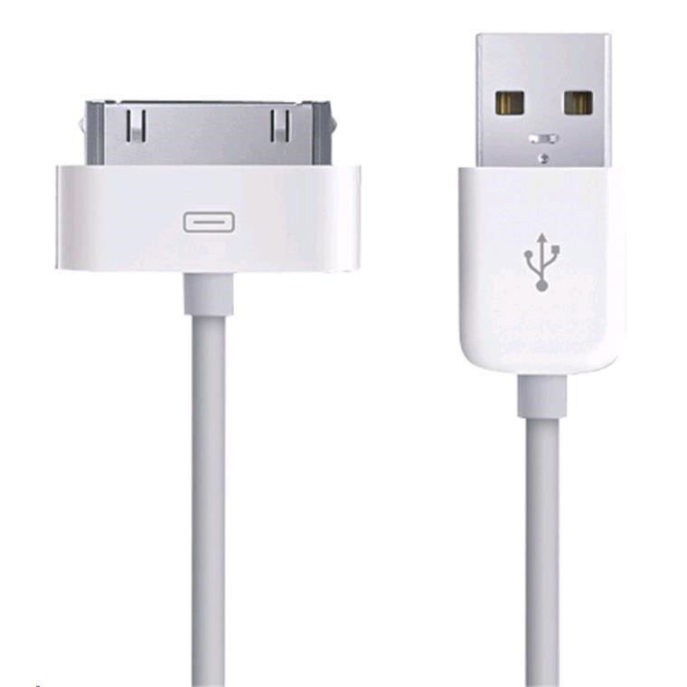 CRS non-certified USB TO DOCK CONNECTOR CABLE USB2 1M SYNC DATA CHARGE CABLE for apple iPhone4 /4s, iPod, iPad