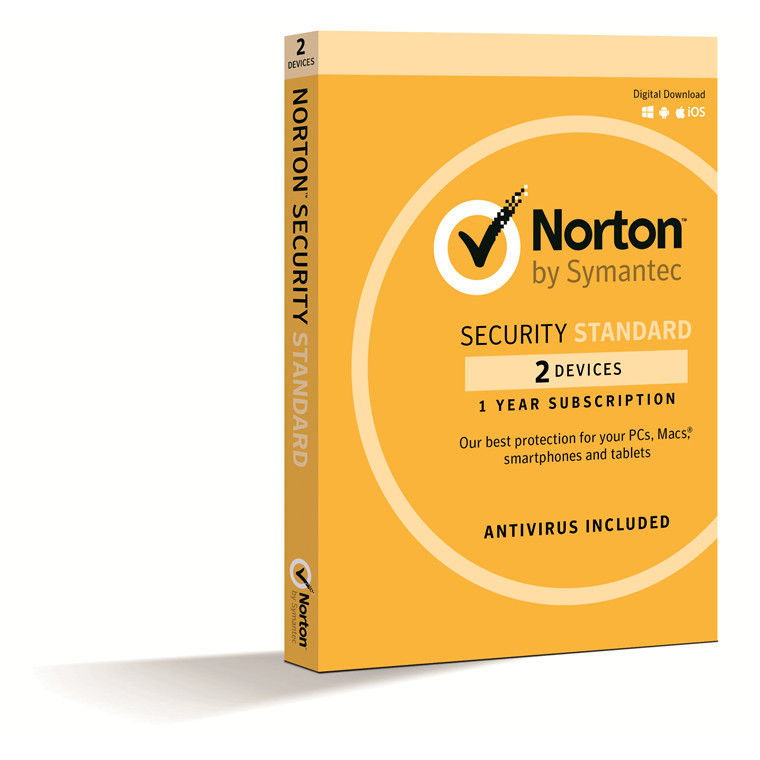 Symantec NORTON SECURITY STANDARD 3.0 AU 1 USER 2 DEVICE 12MO SPECIAL CARD MM SML PCs, Macs, smartphones and tablets