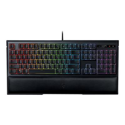 Razer Ornata Chroma RGB Gaming Keyboard Mecha-Membrane Keys, Custom Designed Keycaps, Leatherette Wrist Rest, 10-Key Rollover Anti-Ghosting