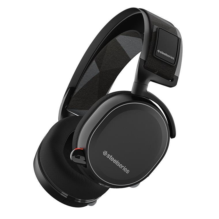 Steelseries Arctis 7 X 7.1 Surround Wireless Gaming Headset premium 3D audio experience with DTS Headphone for PC, PlayStation 4, Xbox One, VR, Android and iOS - Black