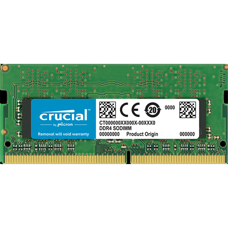 Crucial 16GB DDR4 SODIMM 2400 MT/s (PC4-19200) CL17 DR x8 Unbuffered SODIMM 260pin DDR4 For Laptop and other SODIMM Compatiable devices