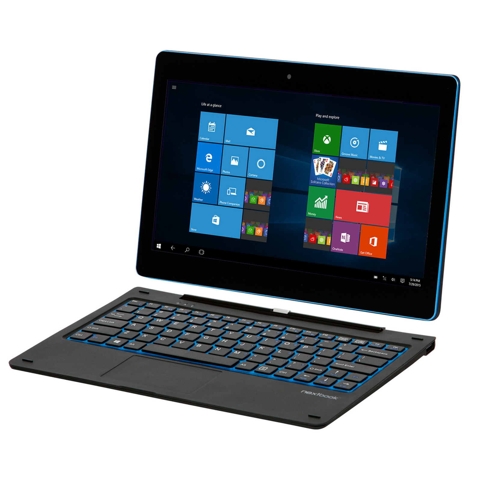 "Nextbook 11.6"" Tablet -Intel Atom Z3735G Quad Core 2GB 32GB storage WiFi w/Pogo Keyboard Win10 2MP Front & Back Camera"