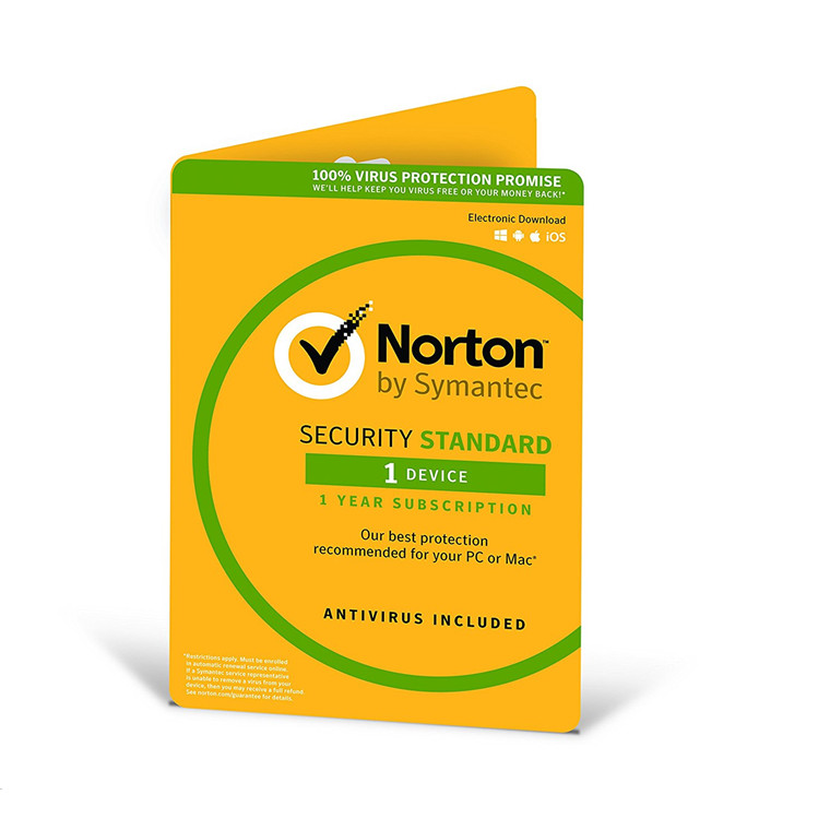 Symantec OEM Norton Security Standard 3.0 AU/NZ 1 Device, 12 Months License Card System Builder multi-device PC, IOS, Android or Mac